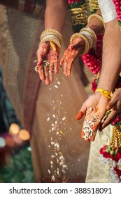 Fire ceremony at a Tamil Hindu wedding