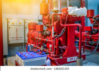 Fire control system High pressure water pump powered by diesel.