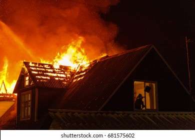 a fire in a country house with one who has lost all in a fire