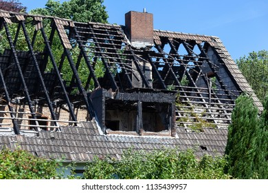 Fire damage of a roof