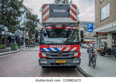Fire Department Truck At Amsterdam The Netherlands 2018