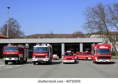 Fire department vehicles