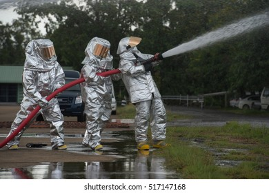Fire departments & emergency response teams  suited up with PPE to protect them from hazardous materials as they investigate this disaster.