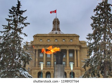 Fire Display Outside The Legislature