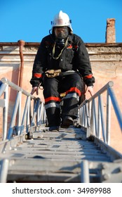 fire down the ladder after successfully extinguishing