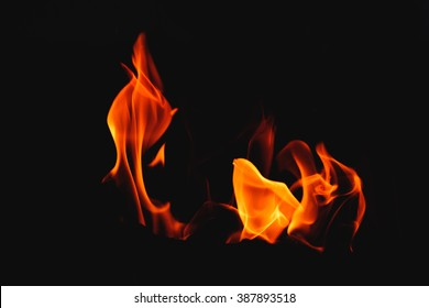 Fire dreams: girl. What could be more mysterious than fire? In its flames you could imagine flying birds, dancing girl, flowers or salamanders.  Soft focus.