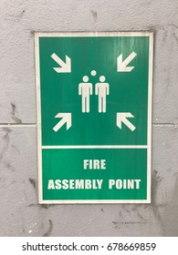 Fire emergency sign assembly point