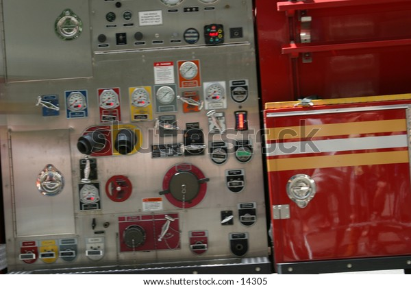 fire engine with gauges