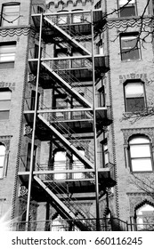 Fire escape of the building