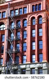 Fire escape ladders.