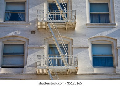 Fire Escape on side of apartment block