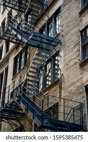 Fire escape stairs, downtown Loop area, Chicago, Illinois, USA
