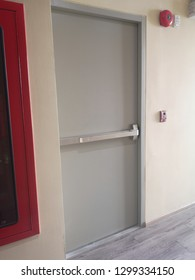 Fire exit door steel material stainless handle​ firehose cabinet