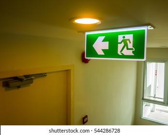 Fire exit light sign (fire)