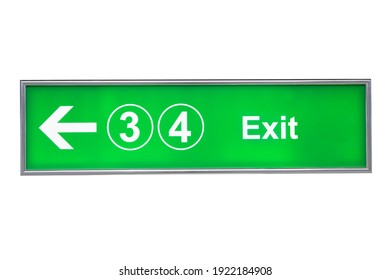 Fire exit sign on isolate background