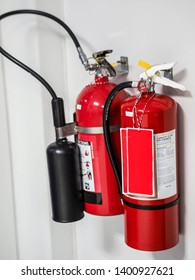 Fire extinguisher equipment in power plant.