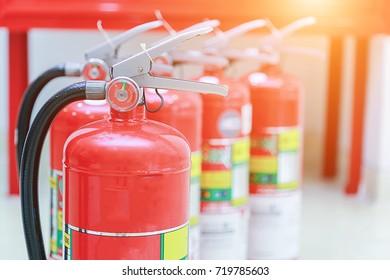 fire extinguisher in hotel.