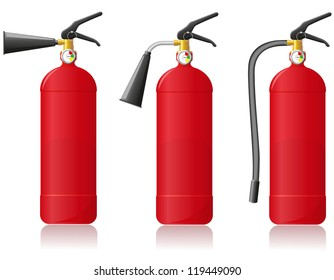 fire extinguisher illustration isolated on white background