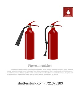 Fire extinguisher on a white background. Firefighter equipment in realistic style.