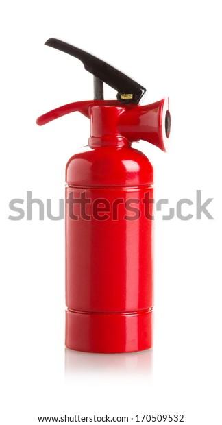 fire extinguisher on white background