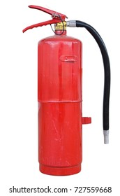 Fire extinguisher on white backgrounds ,clipping path