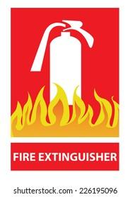 fire extinguisher sign (fire extinguisher symbol)