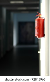 Fire extinguisher in workplace