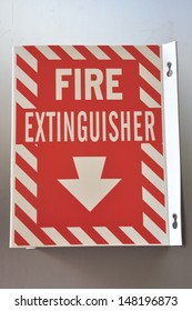 Fire extingusiher sign