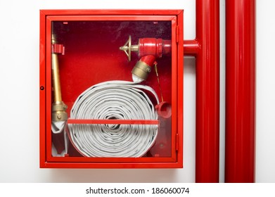 fire fighter hose hydrant inside a red case