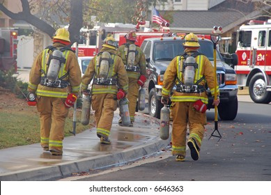 Fire Fighters Heading to a Fire