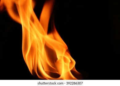 Fire flame on background