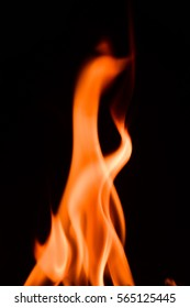 Fire and flame on black background