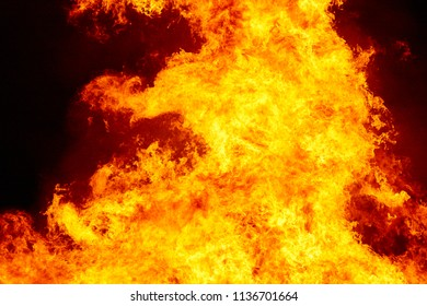 Fire flames detail. Fireman emergency. Carbon emission and combustion