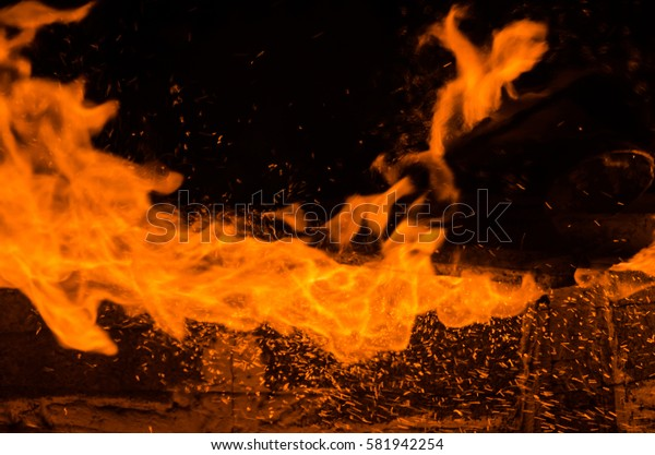 Fire flames ,flame in furnace
