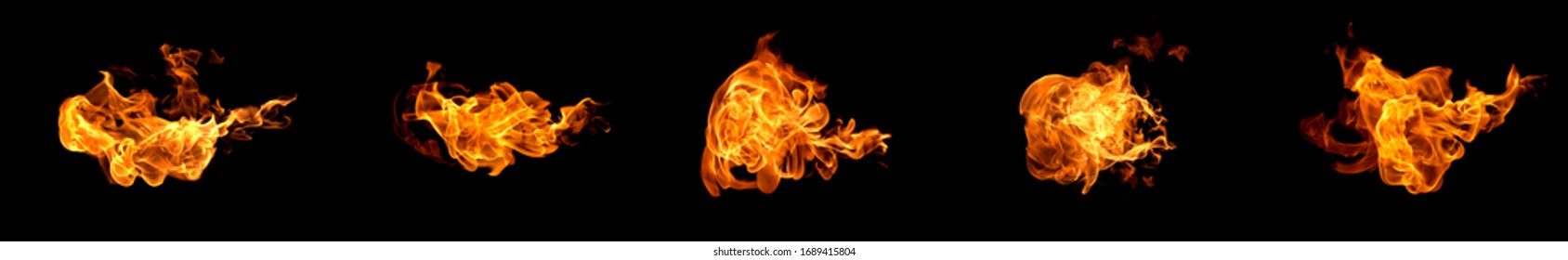 Fire flames on a black background abstract.