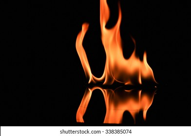 fire, Fire flames on black background,Fire flames background
