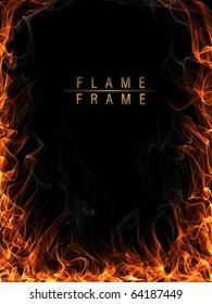 Fire, flames and smoke frame