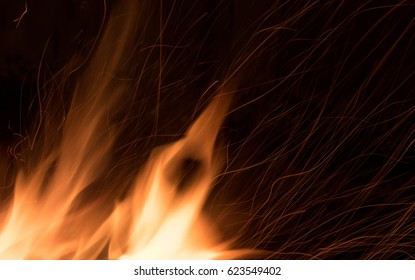 Fire Flames with Sparks