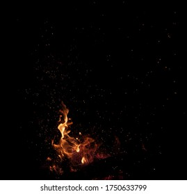 Fire Flames Sparks Overlay Texture
