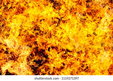 the fire flames texture on a black background