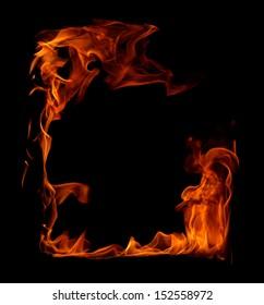 Fire frame in black