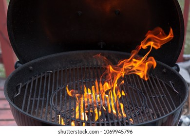 Fire in the grill