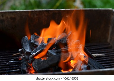 Fire for grill