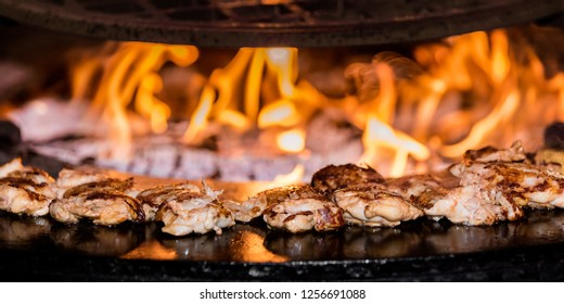 Fire grilled meat