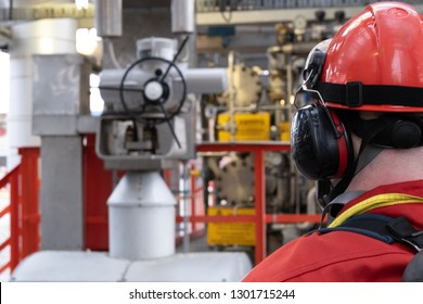 Fire guard monitoring the process in a petroleum refinery protecting human life's and values
