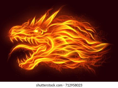 Fire head of dragon