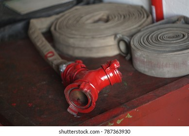 fire hoses on the table