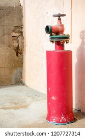 A fire hydrant in Gibraltar. Gibraltar is a British Overseas Territory located on the southern tip of Spain.