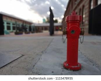 fire hydrant on the sidewalk