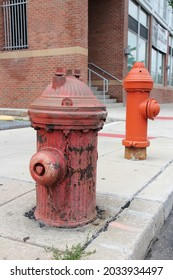 Fire hydrant standpipe in Philadephia, USA - typical city street feature.